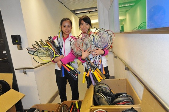 BWF EQUIPMENT DONATION PROGRAM in co-operation with HKBA & YONEX