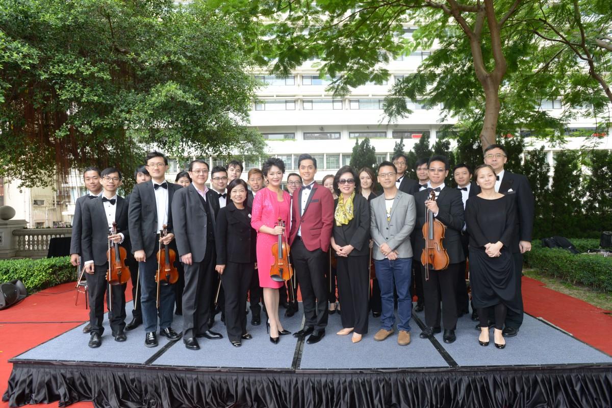 香港弦樂團與嘉賓合照